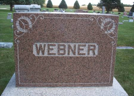 WEBNER, FAMILY MONUMENT - Hancock County, Iowa | FAMILY MONUMENT WEBNER