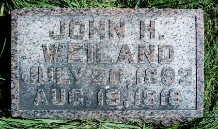 WEILAND, JOHN H - Hancock County, Iowa | JOHN H WEILAND