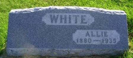 WHITE, ALLIE - Hancock County, Iowa   ALLIE WHITE