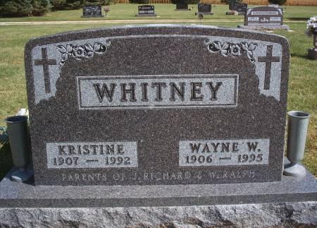 WHITNEY, WAYNE W - Hancock County, Iowa | WAYNE W WHITNEY