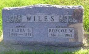 WILES, FLORA S - Hancock County, Iowa | FLORA S WILES