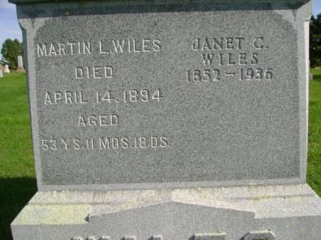 WILES, JANET C - Hancock County, Iowa   JANET C WILES