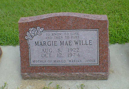 WILLE, MARGIE MAE - Hancock County, Iowa | MARGIE MAE WILLE