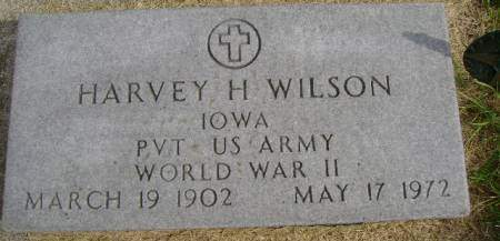 WILSON, HARVEY H - Hancock County, Iowa | HARVEY H WILSON