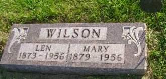WILSON, MARY - Hancock County, Iowa   MARY WILSON