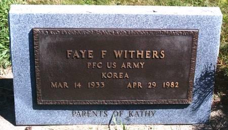 WITHERS, FAYE F - Hancock County, Iowa   FAYE F WITHERS