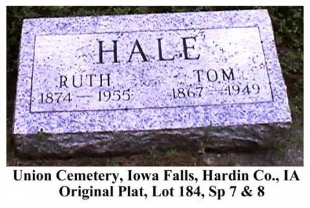 HALE, TOM & RUTH (ADAMS) - Hardin County, Iowa | TOM & RUTH (ADAMS) HALE