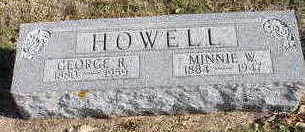 RUNGE HOWELL, MINNIE W - Hardin County, Iowa | MINNIE W RUNGE HOWELL