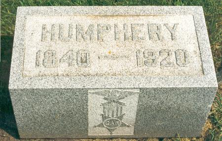 HUMPHREY, UNKNOWN - Hardin County, Iowa | UNKNOWN HUMPHREY