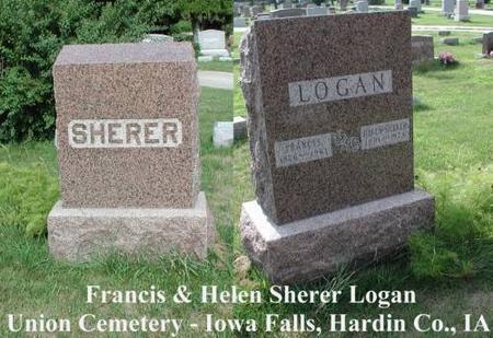 LOGAN, FRANCIS & HELEN (SHERER) - Hardin County, Iowa | FRANCIS & HELEN (SHERER) LOGAN