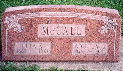 MCCALL, AQUILLA AND ETTA - Hardin County, Iowa | AQUILLA AND ETTA MCCALL