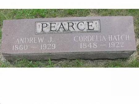 PEARCE, ANDREW J, CORDELIA HATCH - Hardin County, Iowa | ANDREW J, CORDELIA HATCH PEARCE