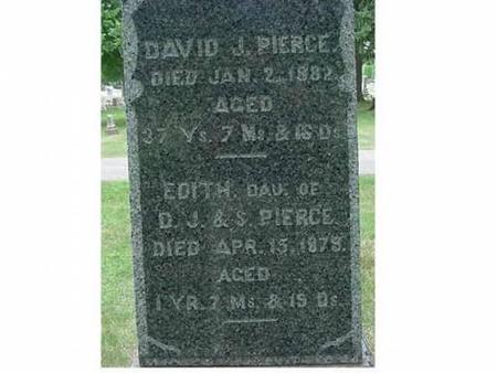 PIERCE, DAVID J. & DAU EDITH - Hardin County, Iowa | DAVID J. & DAU EDITH PIERCE
