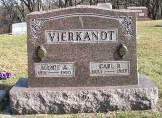 VIERKANDT, MAMIE - Hardin County, Iowa | MAMIE VIERKANDT