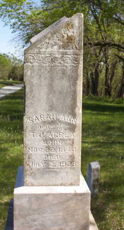 ACREA, SARAH ANN - Harrison County, Iowa | SARAH ANN ACREA