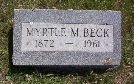 BECK, MYRTLE M. - Harrison County, Iowa | MYRTLE M. BECK