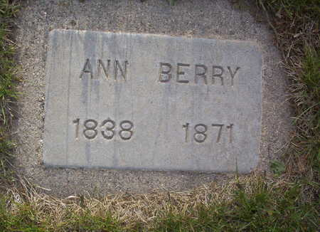 MCELROY BERRY, ANNA - Harrison County, Iowa | ANNA MCELROY BERRY