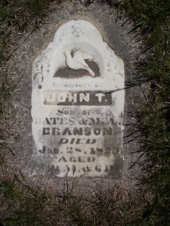 BRANSON, JOHN THOMAS - Harrison County, Iowa | JOHN THOMAS BRANSON