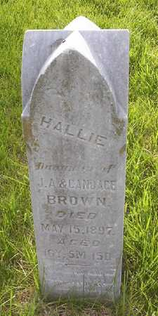 BROWN, HALLIE - Harrison County, Iowa | HALLIE BROWN