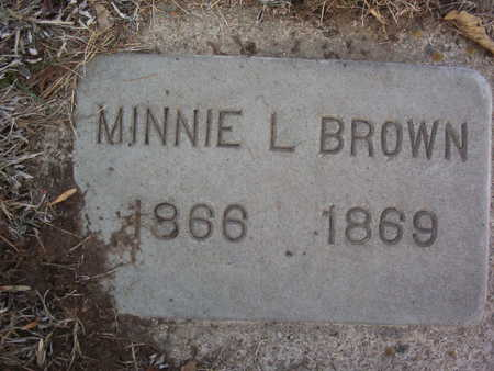 BROWN, MINNIE L. - Harrison County, Iowa | MINNIE L. BROWN
