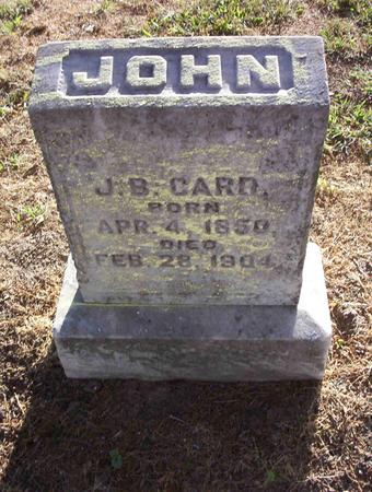 CARD, JOHN B - Harrison County, Iowa | JOHN B CARD