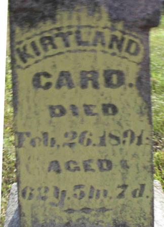 CARD, KIRTLAND - Harrison County, Iowa | KIRTLAND CARD