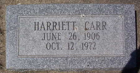 CARR, HARRIETT - Harrison County, Iowa | HARRIETT CARR
