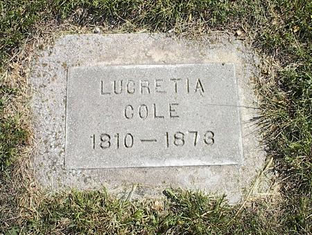 COLE, LUCRETIA - Harrison County, Iowa | LUCRETIA COLE