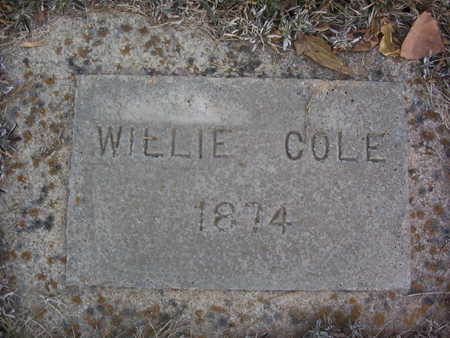 COLE, WILLIE - Harrison County, Iowa | WILLIE COLE