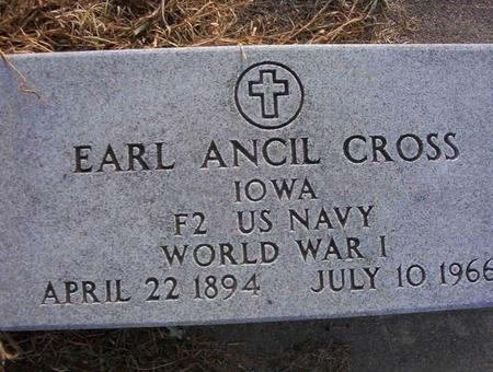 CROSS, EARL ANCIL - Harrison County, Iowa | EARL ANCIL CROSS