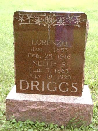 DRIGGS, NELLIE R. - Harrison County, Iowa | NELLIE R. DRIGGS