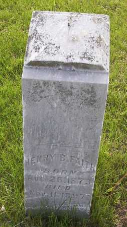 FAITH, HENRY BURLEY - Harrison County, Iowa | HENRY BURLEY FAITH