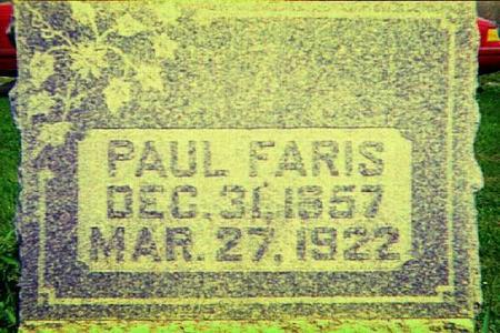 FARIS, PAUL - Harrison County, Iowa | PAUL FARIS