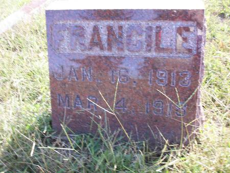 FRAZIER, FRANCILE - Harrison County, Iowa   FRANCILE FRAZIER