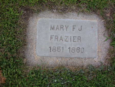 FRAZIER, MARY FRANCES JOSEPHINE - Harrison County, Iowa | MARY FRANCES JOSEPHINE FRAZIER