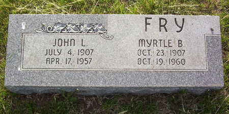 FRY, MYRTLE BERTA - Harrison County, Iowa | MYRTLE BERTA FRY
