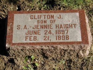 HAIGHT, CLIFTON J. - Harrison County, Iowa | CLIFTON J. HAIGHT