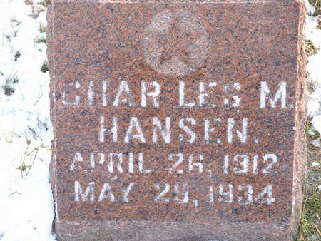 HANSEN, CHAR LES MAY - Harrison County, Iowa | CHAR LES MAY HANSEN