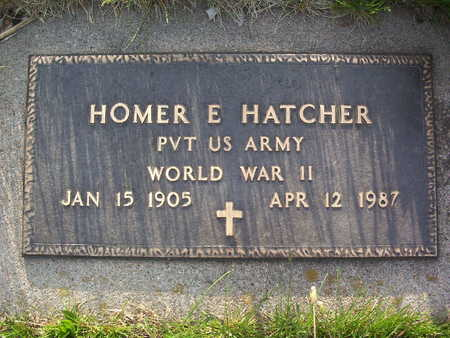 HATCHER, HOMER EDWARD - Harrison County, Iowa | HOMER EDWARD HATCHER
