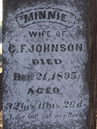 JOHNSON JOHNSON, MINNIE - Harrison County, Iowa | MINNIE JOHNSON JOHNSON