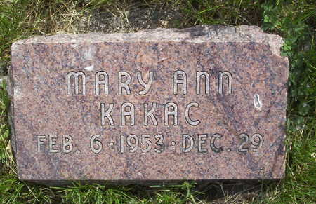 KAKAC, MARY ANN - Harrison County, Iowa | MARY ANN KAKAC