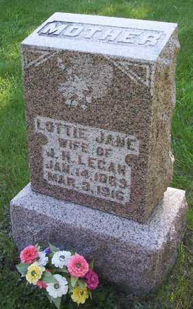 FRY LEGAN, LOTTIE JANE - Harrison County, Iowa | LOTTIE JANE FRY LEGAN