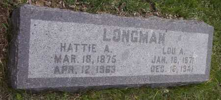 DARTING LONGMAN, HATTIE ALBERTA - Harrison County, Iowa | HATTIE ALBERTA DARTING LONGMAN