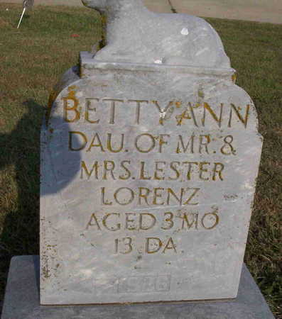 LORENZ, BETTY ANN - Harrison County, Iowa | BETTY ANN LORENZ