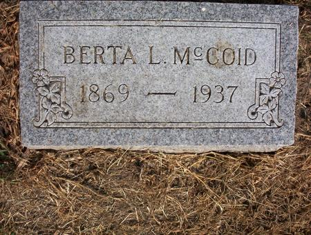 MCCOID, BERTA L - Harrison County, Iowa | BERTA L MCCOID