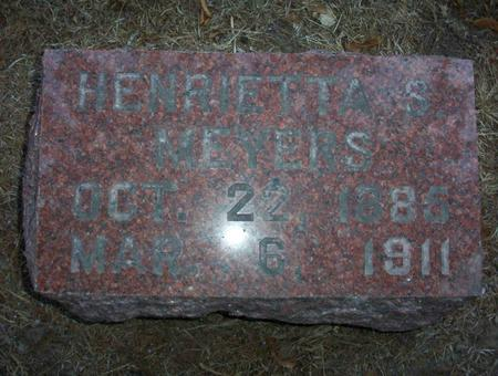MEYERS, HENRIETTA S - Harrison County, Iowa | HENRIETTA S MEYERS
