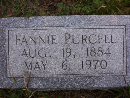 PURCELL, FANNIE - Harrison County, Iowa | FANNIE PURCELL