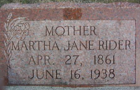 RIDER, MARTHA JANE - Harrison County, Iowa | MARTHA JANE RIDER