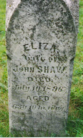 HEDGES SHAW, ELIZA - Harrison County, Iowa | ELIZA HEDGES SHAW