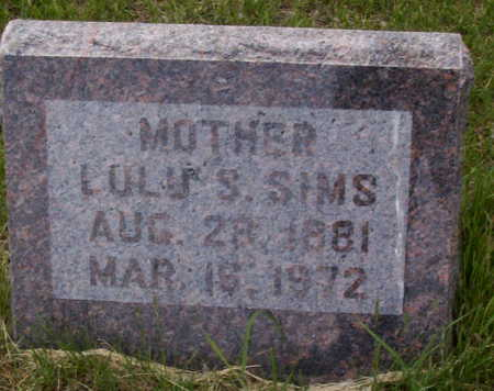 SIMS, LULU S. - Harrison County, Iowa | LULU S. SIMS